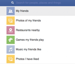 Facebook graph search for mobile