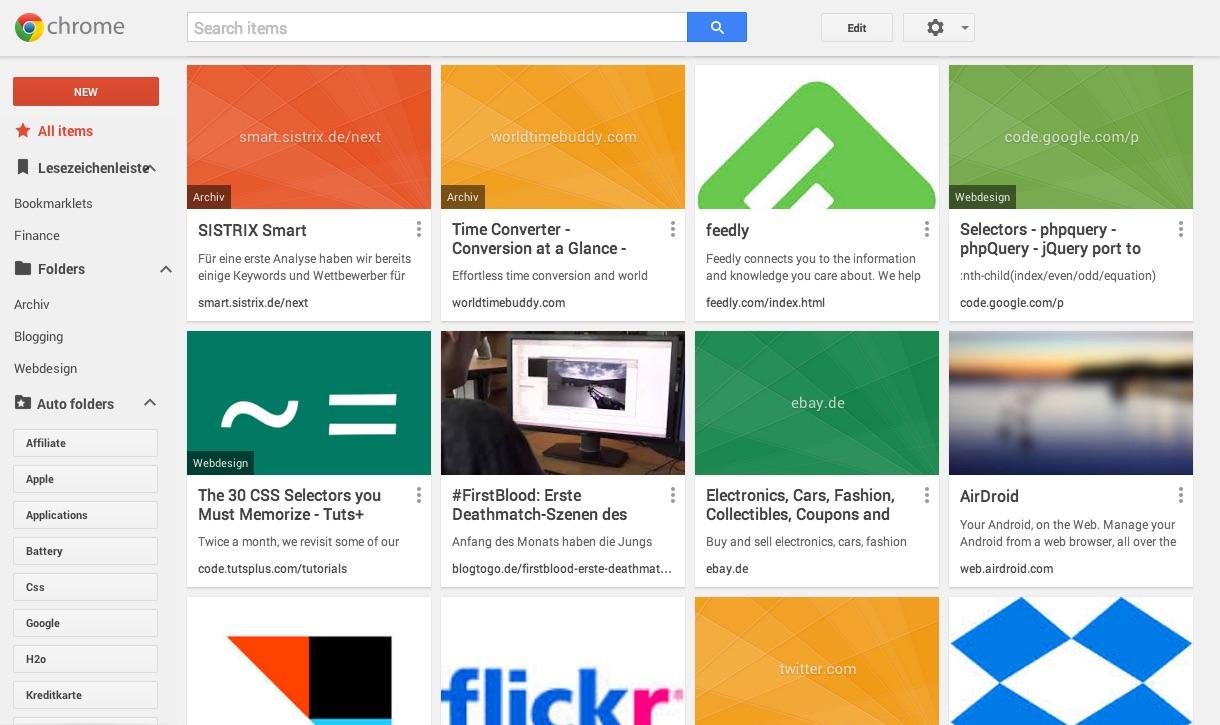 Google Chrome Beta Gets New Bookmark Manager | blogging republic