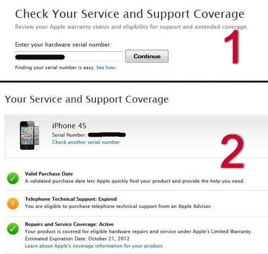 apple iphone serial number warranty